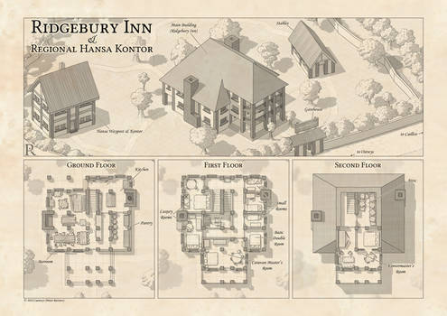 Ridgebury Inn - Battle Map by Caenwyr