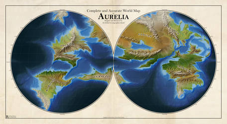 Complete and Accurate World Map of Aurelia by Caenwyr