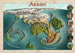 the world of Aeash by Caenwyr