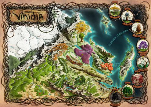 Viridia: ''Witchbreaker Saga'' novel map