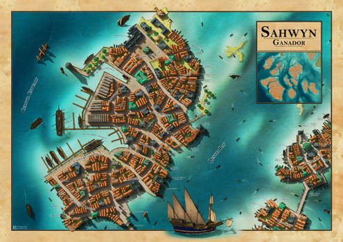 Sahwyn: mainland port of the Pearl City 'Ganador'