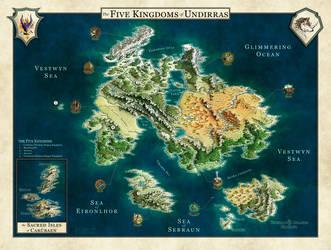 Undirras World Map by Caenwyr