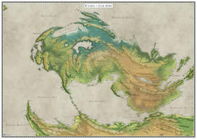 The continent of Ictaria - topography