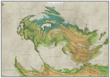 The continent of Ictaria - topography by Caenwyr