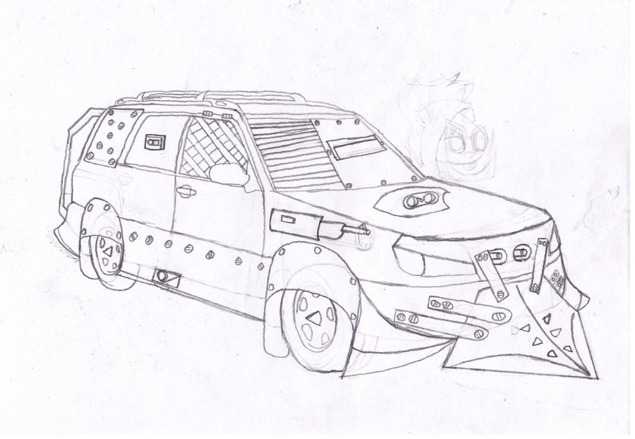 black napalm u0026 39 s subaru forester  sketch  by blacknapalmpony