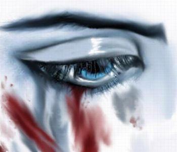 Tears of pain...