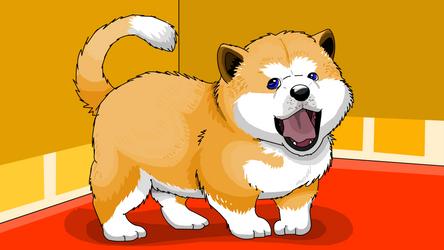 Akita cute dog by arineux