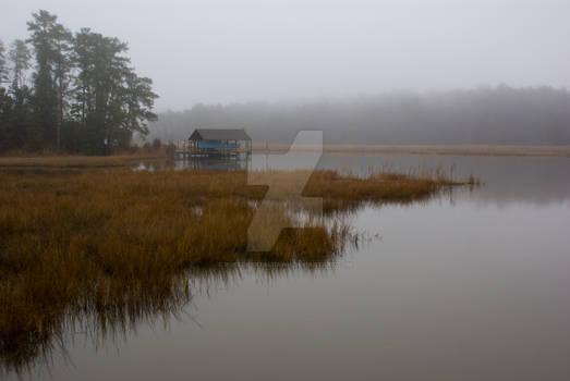 Foggy Boat Dock