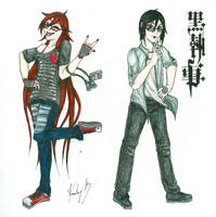 Modern Grell and Sebastian by nocturne1345