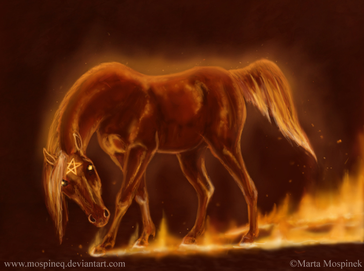 Asylum Escape and Trainwreck Fire_horse_by_Mospineq