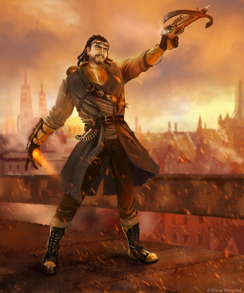 Steampunk warrior by Mospineq