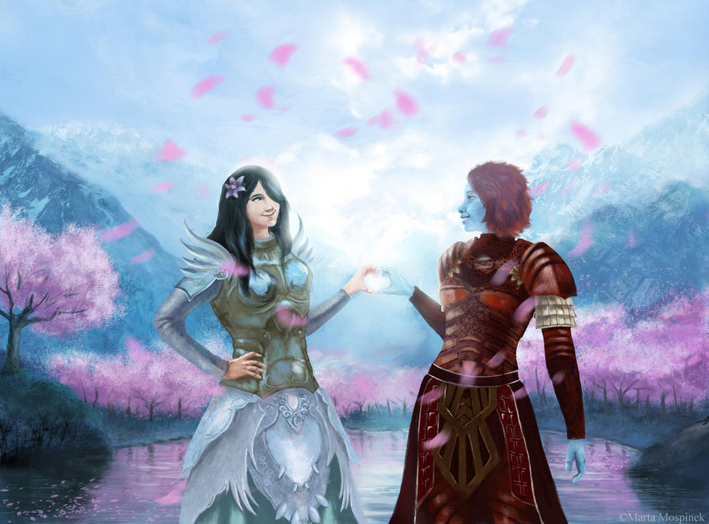 Talezya and Aegis by Mospineq
