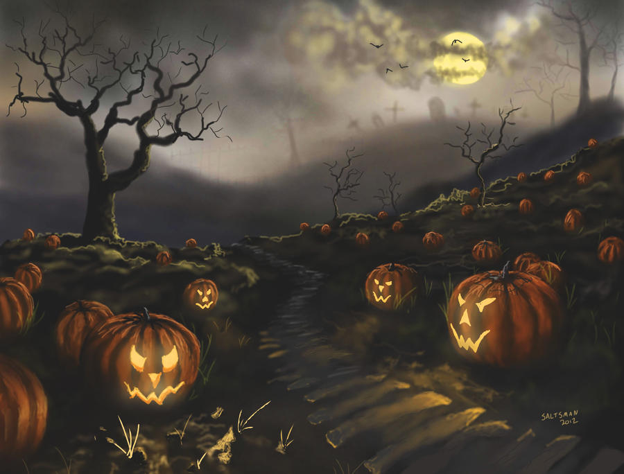 Pumpkin Patch by coldwarSalty Nightmare Before Christmas Pumpkin Patch Drawing