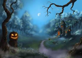 Jack-O-Lantern Path by coldwarSalty