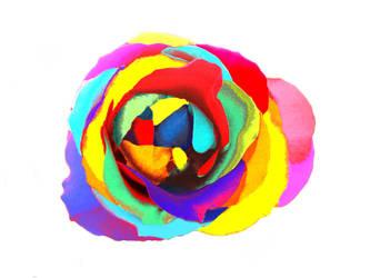 rainbow flower by panda-gila