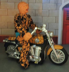 MEGO THING and his MOTORCYCLE