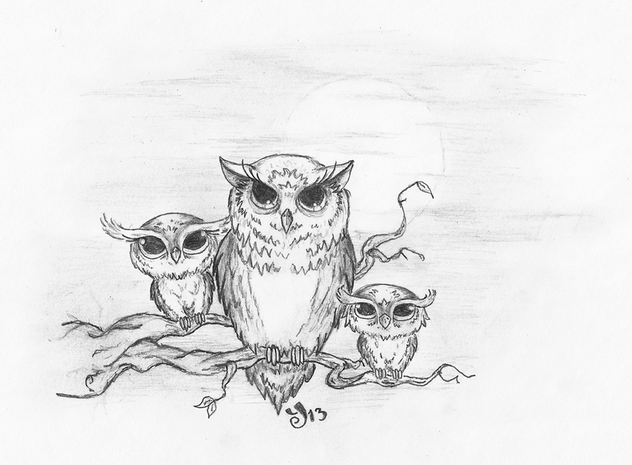 cute owl drawings for tattoos