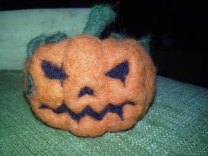 .: Needle felted pumpkin :.