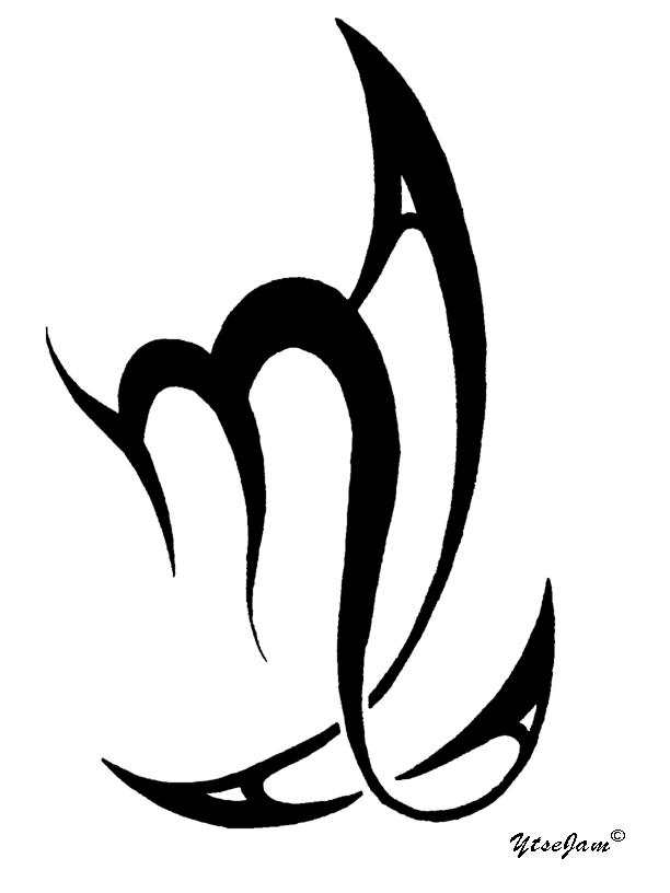 Virgo tribal by ytse80 on deviantart for Virgo tribal tattoo