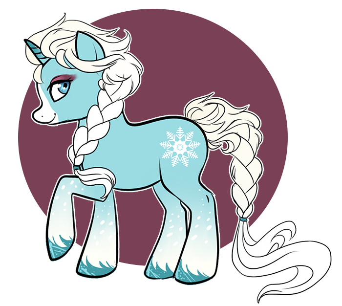 SnowSpell Pony by Potionpony