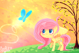 Fluttershy and Butterfly Ver.2 :3 by AlenD-nyan