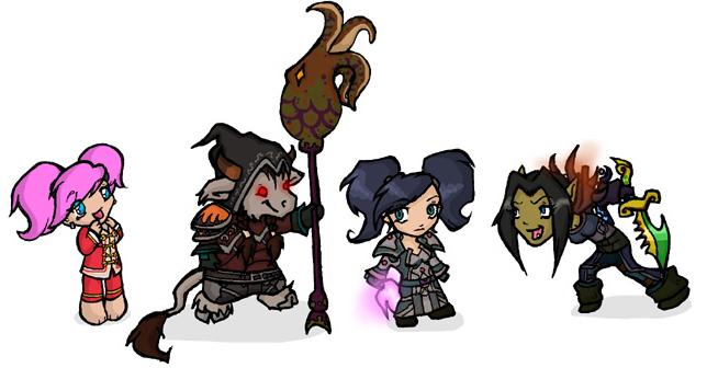 Warcraft Chibis Set7 by DivineTofu