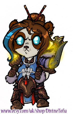 WoW Chibi : Pandaren Warrior by DivineTofu