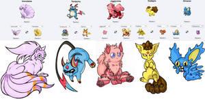 Pokemon Fusion Stickers Set3