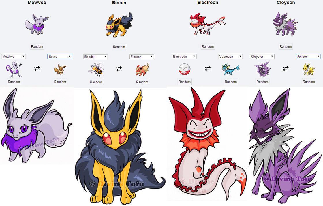 Pokemon Fusion Stickers Eeveeloution Set by feedapollyon