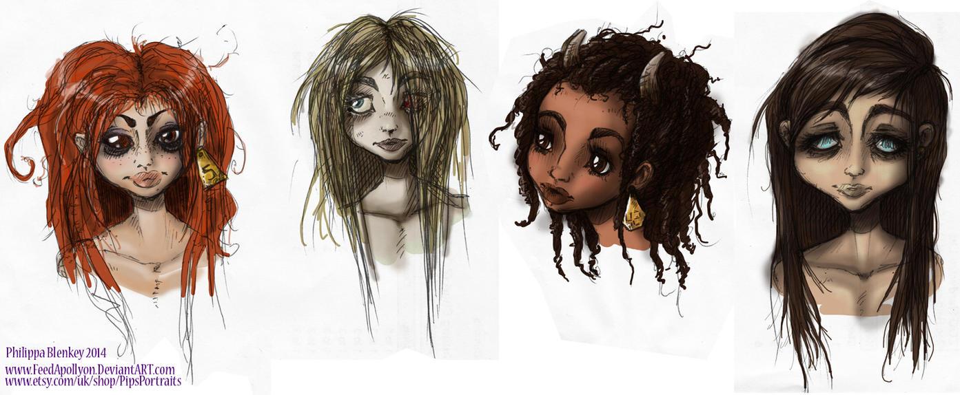 Strange Girls by feedapollyon