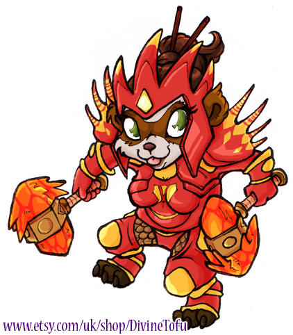 WoW Chibi: Pandaren Shaman by DivineTofu