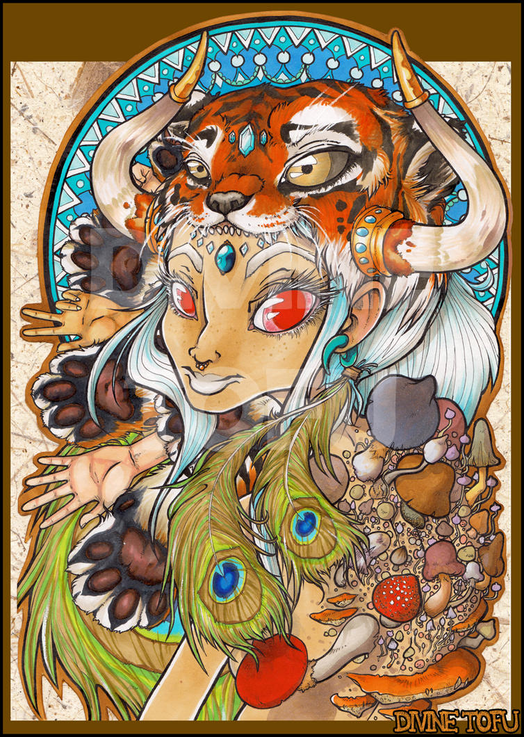 Peacock Tigergirl by DivineTofu
