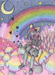 In The Rainbow Mushroom Field by DivineTofu