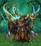 WoW Portrait - Lunameuh the Highmountain Druid