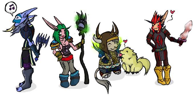 Warcraft Chibis Set5 by DivineTofu
