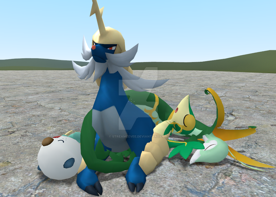 Serperior and samurott