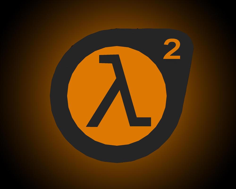 3d half-life 2 logo wallpaperbored154 on deviantart