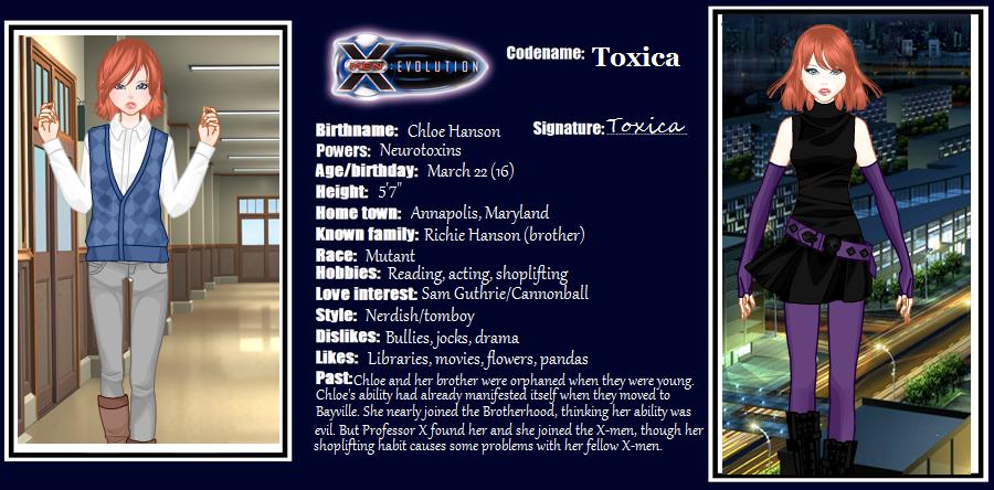 X Men Evolution Characters Profiles X-men Evolution OC Tox...
