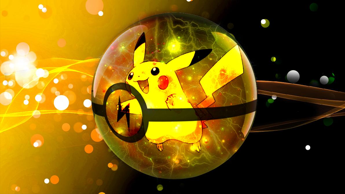 Pikachu Wallpaper 3d Pokeball By
