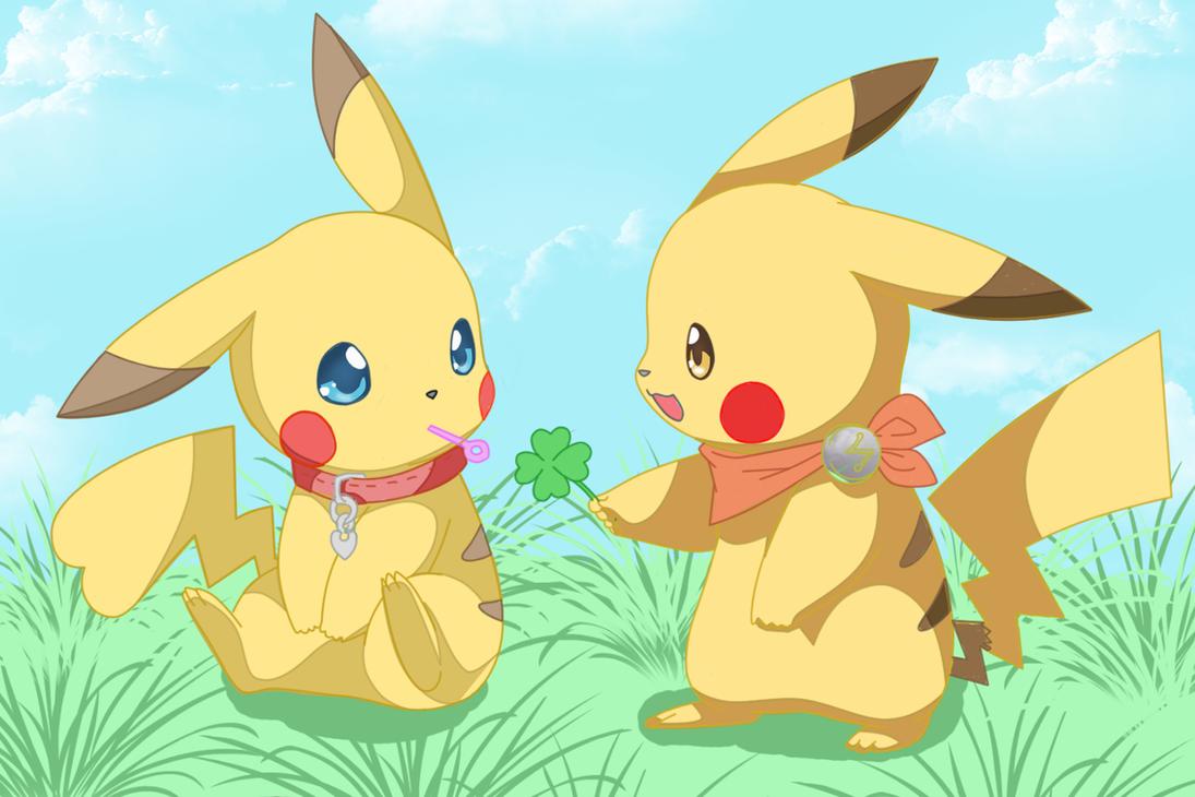 cute pikachu couple pokemon - photo #5