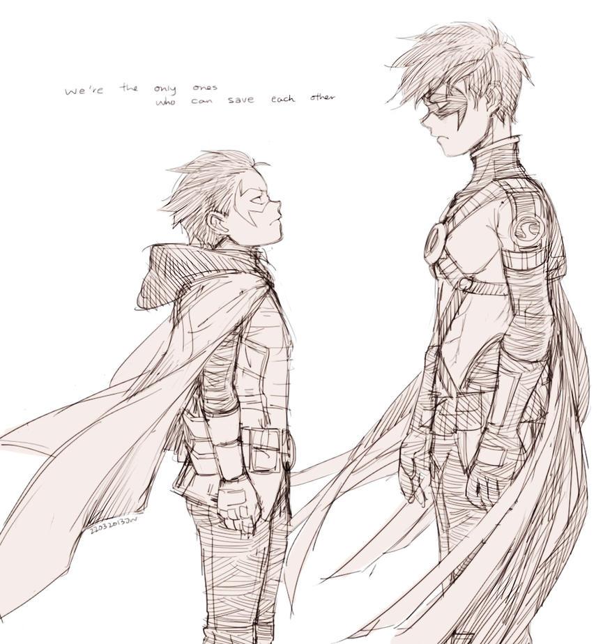 Damian and Tim by jojody