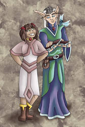 Maana and Morty by improbablesage