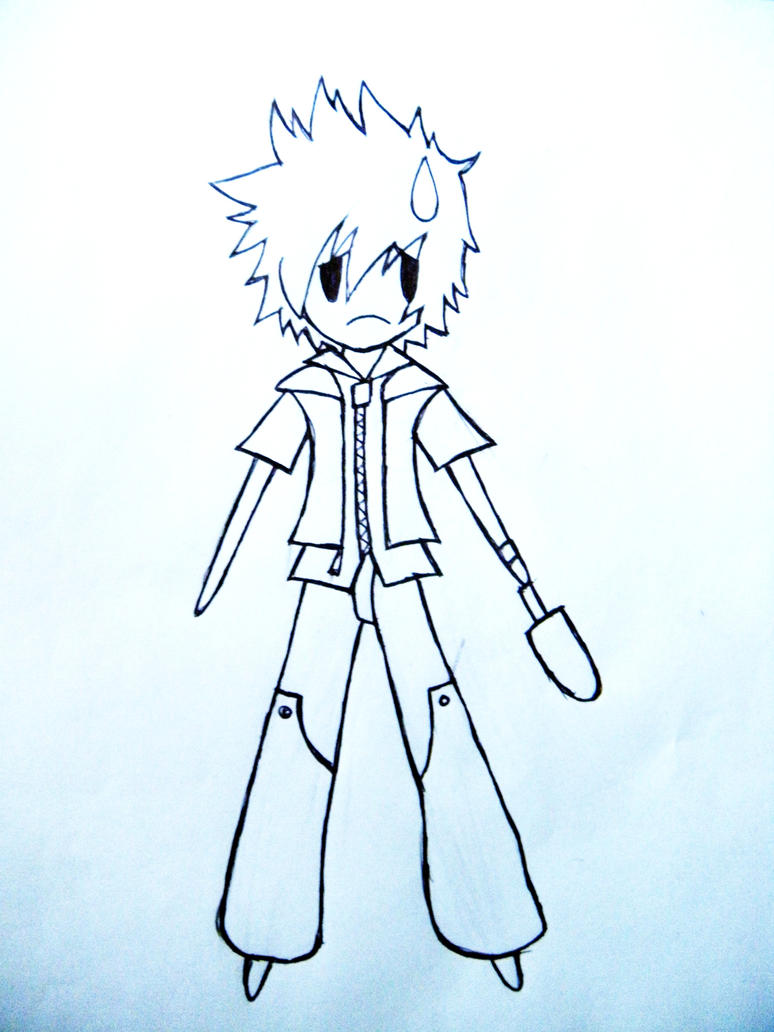 UnColored ROXAS by Airon-Len