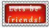 Let's be Friends Stamp by Lets-be-perfect