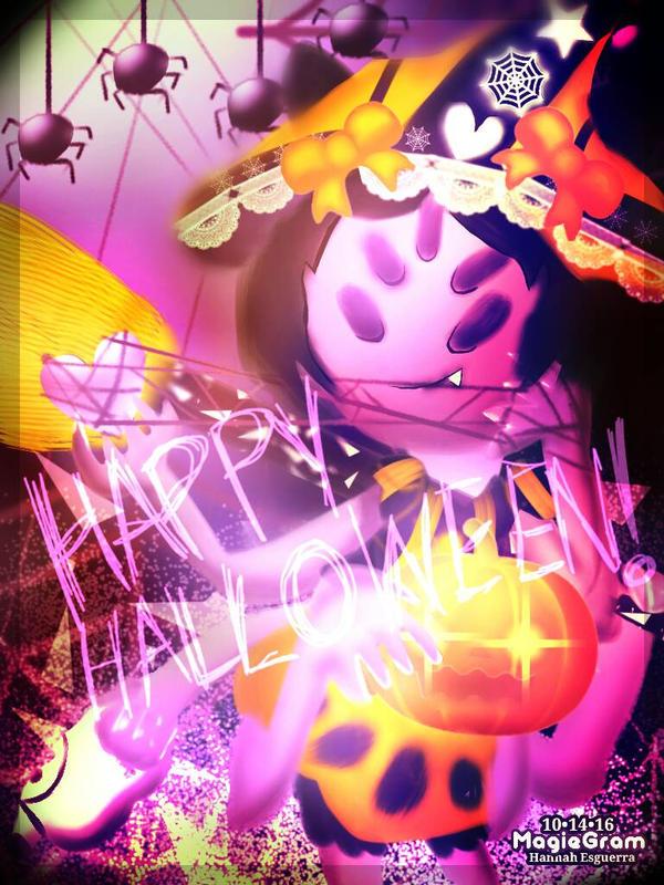 Undertale- Halloween! Muffet by MagieGram on DeviantArt
