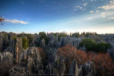 Stone Forest near Kunming by kornjacinvrac