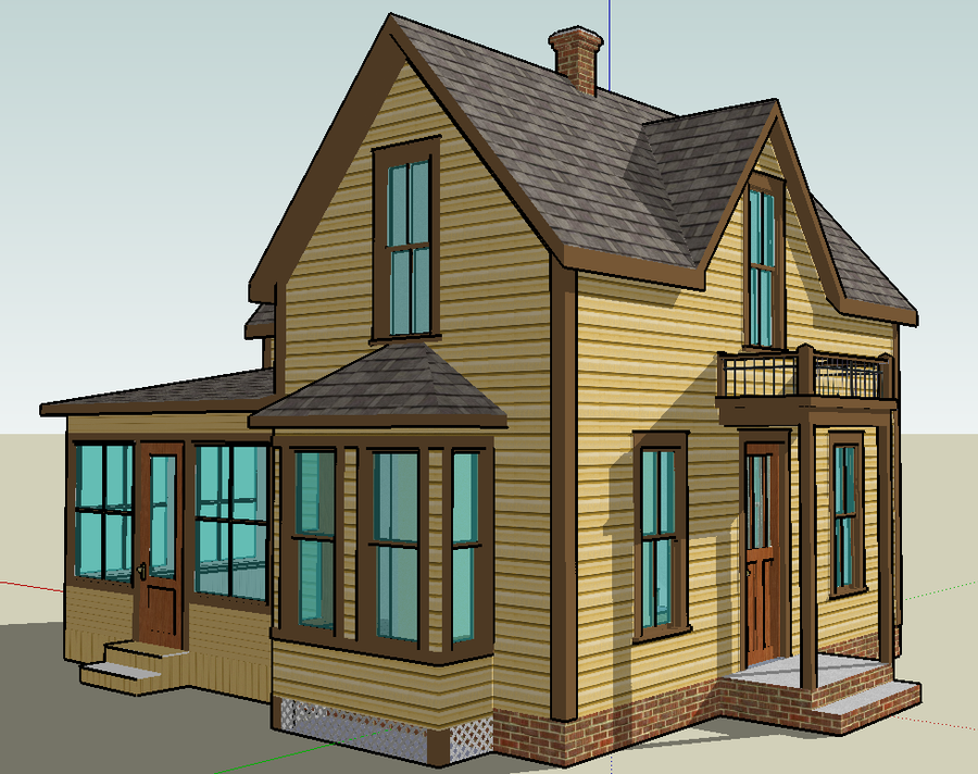 Google sketchup single family home by bobthelurker on for Google house builder