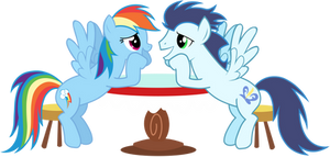 Rainbow Dash and Soarin' - Lovey Dovey [Updated]