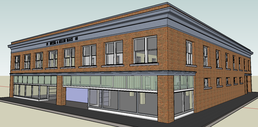 Google sketchup store hotel building by bobthelurker on for Store building design