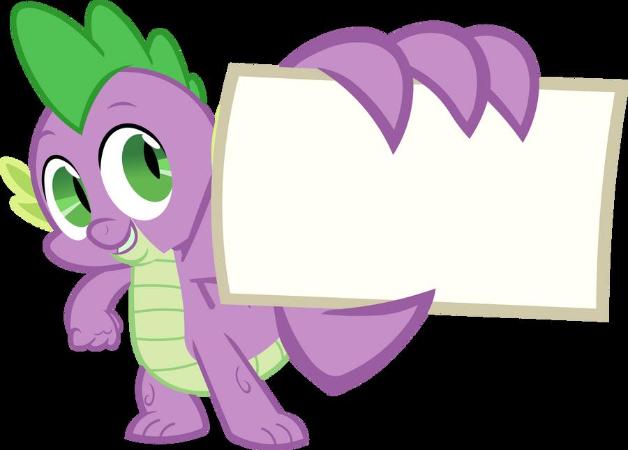 Spike - My Card (Vector) by BobtheLurker